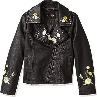 Girls' Big Faux Leather Moto Jacket
