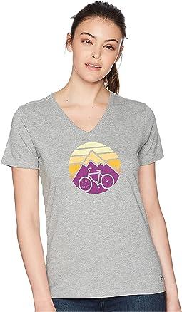 Life is Good Clean Mountain Bike Crusher Vee