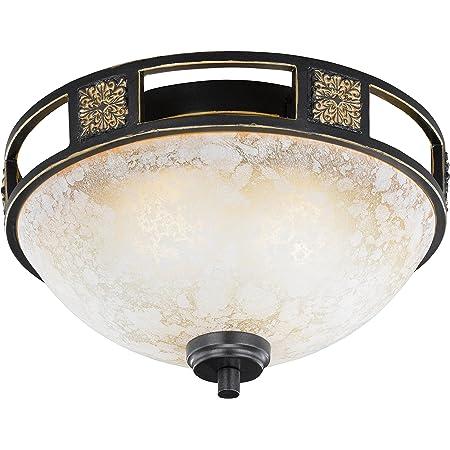 /Ø30*H4cm LED Kupfer Deckenleuchte Dimmbar Wohnzimmerlampe Antik Ultrad/ünn Rund Design Flur Bad Decke Lampe Acryl-schirm Schlafzimmer Kronleuchter f/ür K/üchen Esszimmer Leuchten mit Fernbedienung