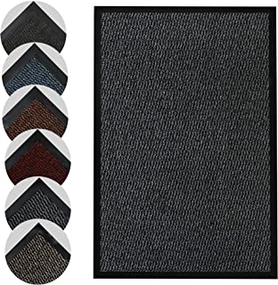 Homatz Door Mat for Indoor & Outdoor - Heavy Duty Rubber, Floor and Kitchen Mats - Non-Slip, Washable and Dirt Trapper Doo...