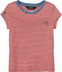 Polo Ralph Lauren Kids - Polo Striped Jersey Tee (Little Kids)