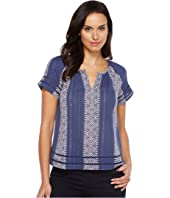 Lucky Brand - Lurex Peasant Top