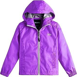 Wantdo Girl's Lightweight Hooded Raincoat Windbreaker Water-Resistant Rain Jacket