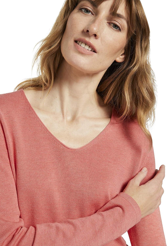 TOM TAILOR Damen Basic Langarmshirt Sweatshirt