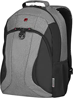 "Wenger 16"" Laptop Backpack with Tablet Pocket, Heather/Black 606484"