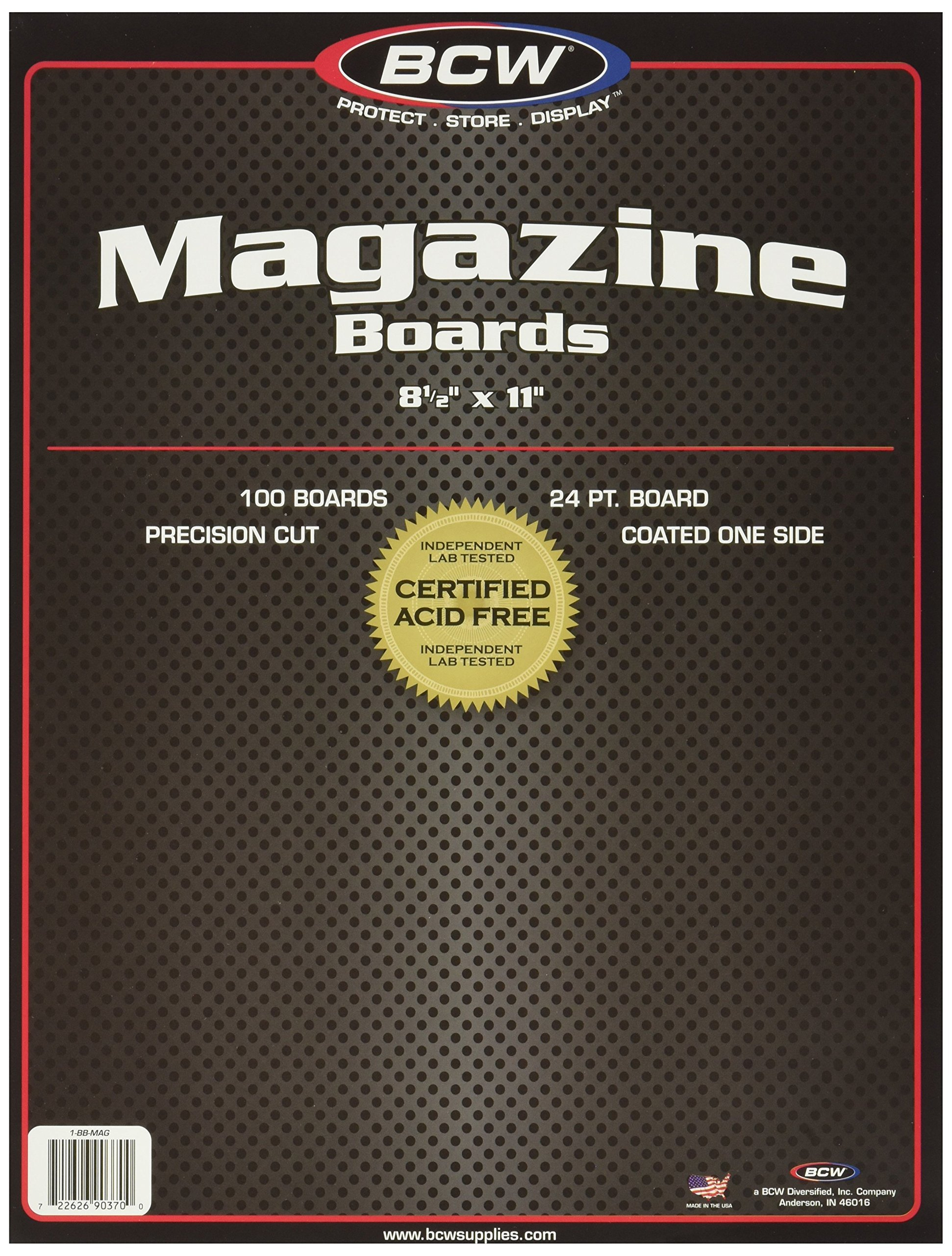 BCW-BBMAG Magazine Size Backing Boards, White (25 Boards)