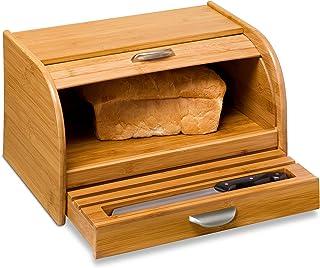 Honey-Can-Do KCH-01081 Bamboo Bread Box, Bamboo