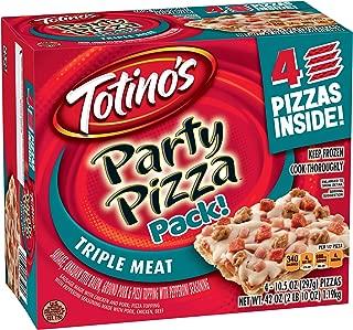 Totino's Triple Meat Party Pizzas, 10.5 oz (Frozen)