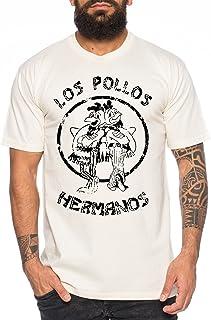 WhyKiki Used Look Los Pollos Herren T-Shirt Heisenberg Hermanos Bad Mr White Breaking