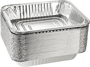 Aluminum Pans - 30-Piece Disposable Half Size Deep Steam Table Tins Foil Pans for Baking, Roasting, Cooking, Serving - 12....