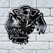Olha Art Design Firefighter Gifts for Women clock fireman decor ideas firefighter is in sign name firefighter wedding gift ideas firefighter birthday gift