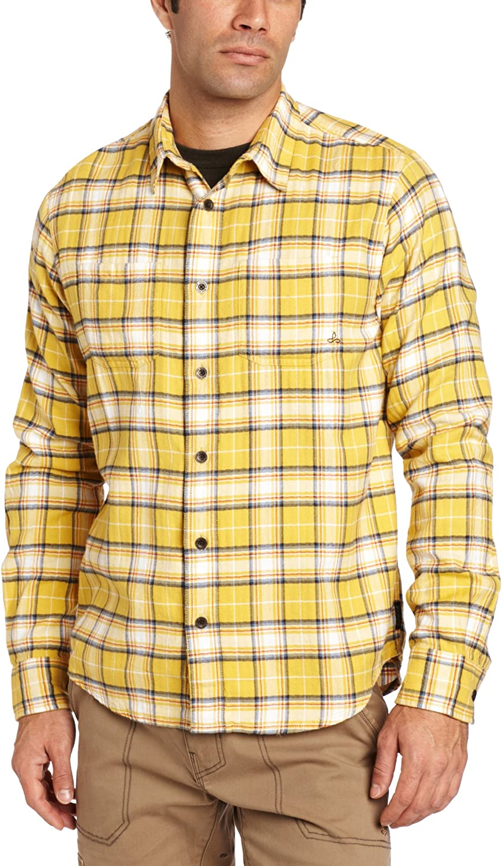 Prana Men's 新作アイテム毎日更新 新発売 Daniel Long Sleeve Shirt Plaid
