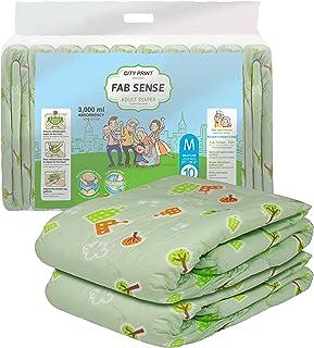 FAB SENSE City Print Adult Briefs (Medium) Green