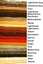 Crepe Wool Hair- Gray Color for Doll Making or Theatrical Uses (False Beard or Mustache)