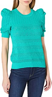 Morgan Pull Maille Ajourée Col Rond Mlilou Sweater Femme