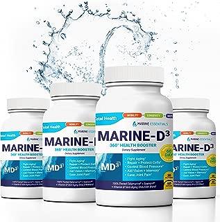 """Marine Essentials Vitamin D3 Omega 3 Fish Oil - """"Marine-D3"""" 340 mg Vitamin D3 DHA Anti Aging Omega 3 Fish Oil Dietary Supplement (240 Softgels)"""