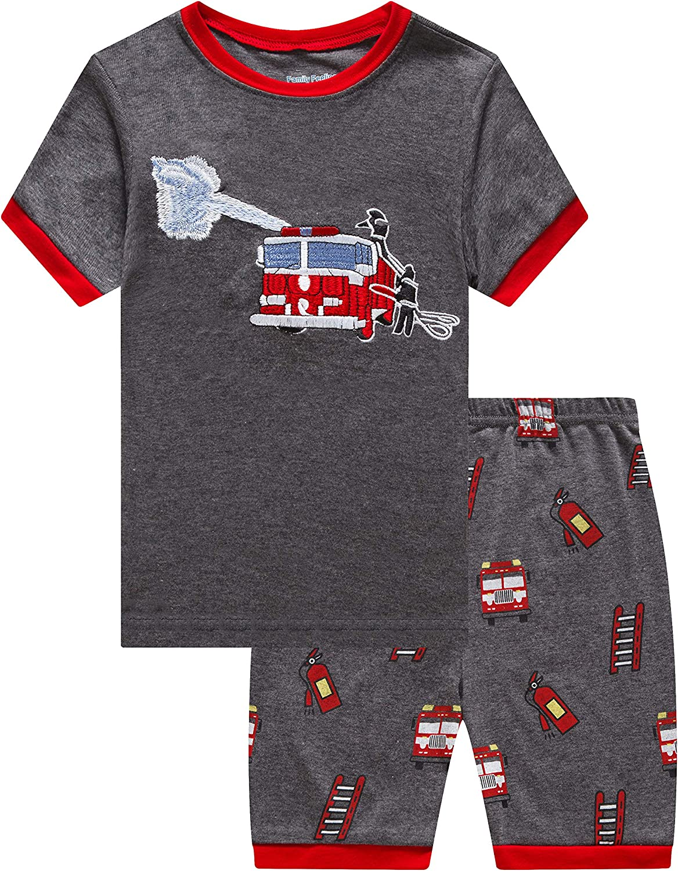 Little Big Boys Summer Pajamas Sets Short 100% Cotton Pjs