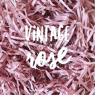 Vintage Rose Blush Shredded Tissue Paper Shred Dusky Ash Antique Vintage Pink Hamper Gift Box Basket Filler Fill Premium Quality