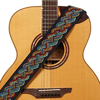 """Amumu Celtic Knot Guitar Strap Multi-Color Polyester for Acoustic, Electric and Bass Guitars with Strap Blocks & Headstock Strap Tie - 2.36"""" Wide"""