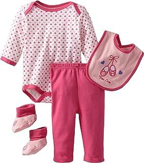 Bon Bebe Baby-girls Newborn Tutu Cute 4 Piece Pant Set