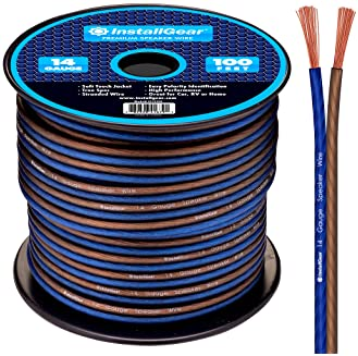 InstallGear 14 Gauge AWG 100ft Speaker Wire True Spec and Soft Touch Cable