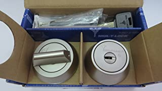 Mul-t-lock MT5+ Hercular Single Cylinder deadbolt With Thumbturn Color -Satin Chrome
