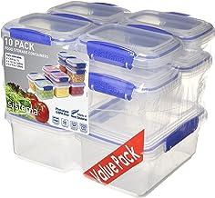 Sistema Klip It 1815 10 Pack Food Storage Container, Clear
