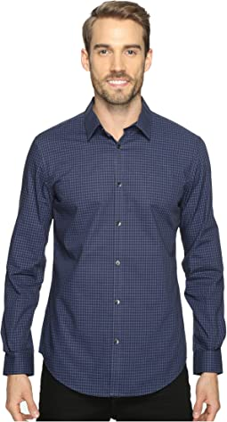 Slim Fit Long Sleeve Infinite Cool Button Down Check Shirt