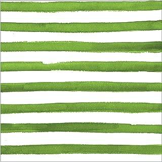 Creative Converting 668512 LUNCHEON NAPKIN, Dotted and Striped-Verdi