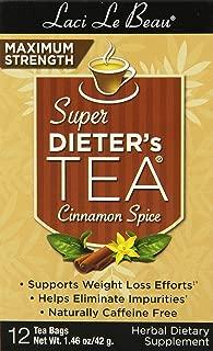 Laci Le Beau Super Dieter's Tea, Maximum Strength Cinnamon Spice, 12 Count Box (Pack of 6)
