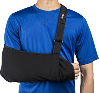 Think Ergo Arm Sling Sport - Lightweight, Breathable, Ergonomically Designed Medical Sling for Broken & Fractured Bones - Adjustable Arm, Shoulder & Rotator Cuff Support (XL Adult)