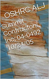 Summit Contractors, Inc; 04-0492	10/24/05