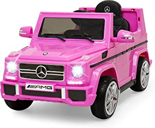 Best Choice Products 12V Kids Licensed Mercedes-Benz G65 SUV Ride On Car w/ Parent Control, Lights, AUX - Pink