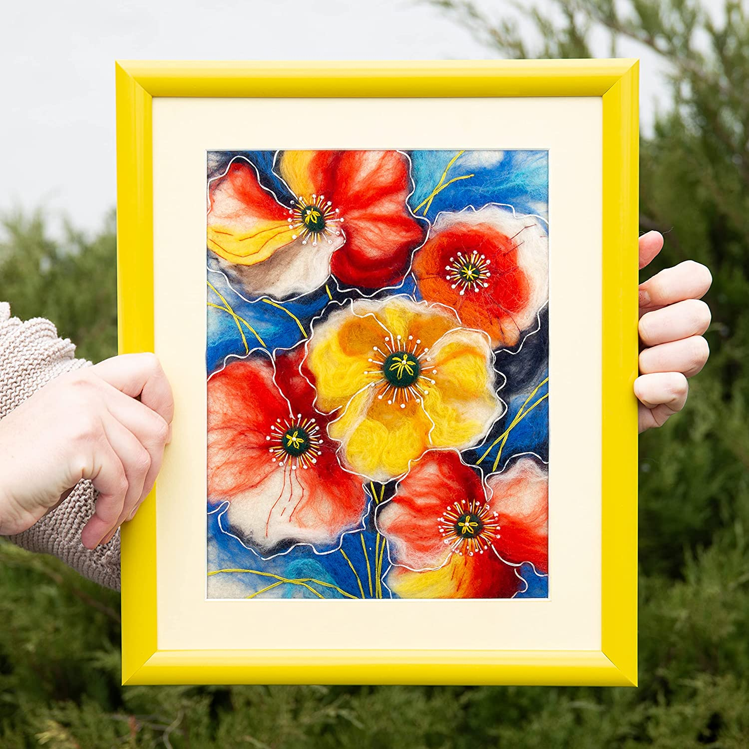 Poppy Flower Floral Popular product Needle Felting kit by Summer Poppies Charivn Max 74% OFF