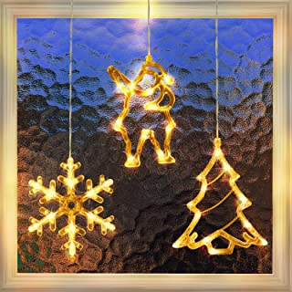 3 Pack Christmas Indoor Window Light Decoration, Backdrop String Lights for Outdoor Indoor Home Bedroom Wedding Party Holi...