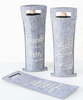 MC Trend - Bolsas de Fieltro para Botellas de Vino con Frases en alemán