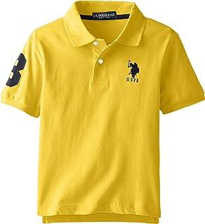 U.S. Polo Assn. Boys` Short Sleeve Solid Pique Polo