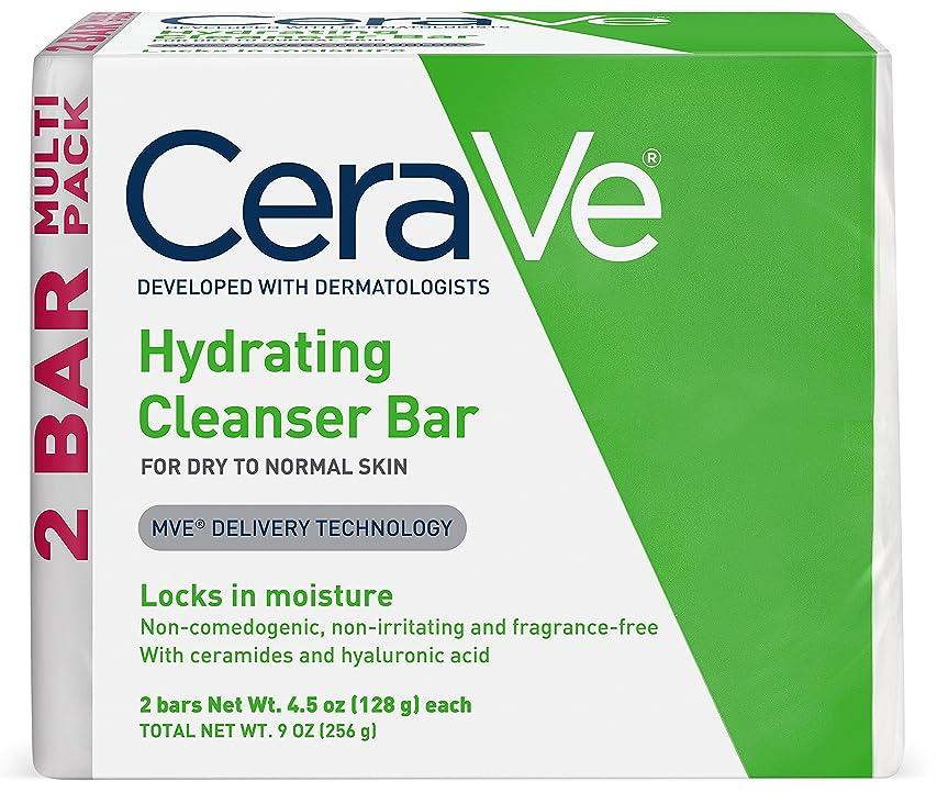 セッション簡単な介入するセラヴィ ハイドレイティングクレンジングバー ノーマル?ドライスキン用 2パック CeraVe Hydrating Cleansing Bar for Normal to Dry Skin - 4.5oz - 2ct