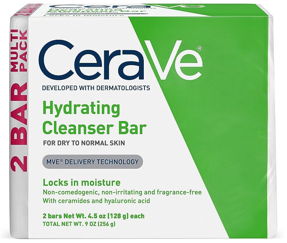理論的本会議技術的なセラヴィ ハイドレイティングクレンジングバー ノーマル?ドライスキン用 2パック CeraVe Hydrating Cleansing Bar for Normal to Dry Skin - 4.5oz - 2ct