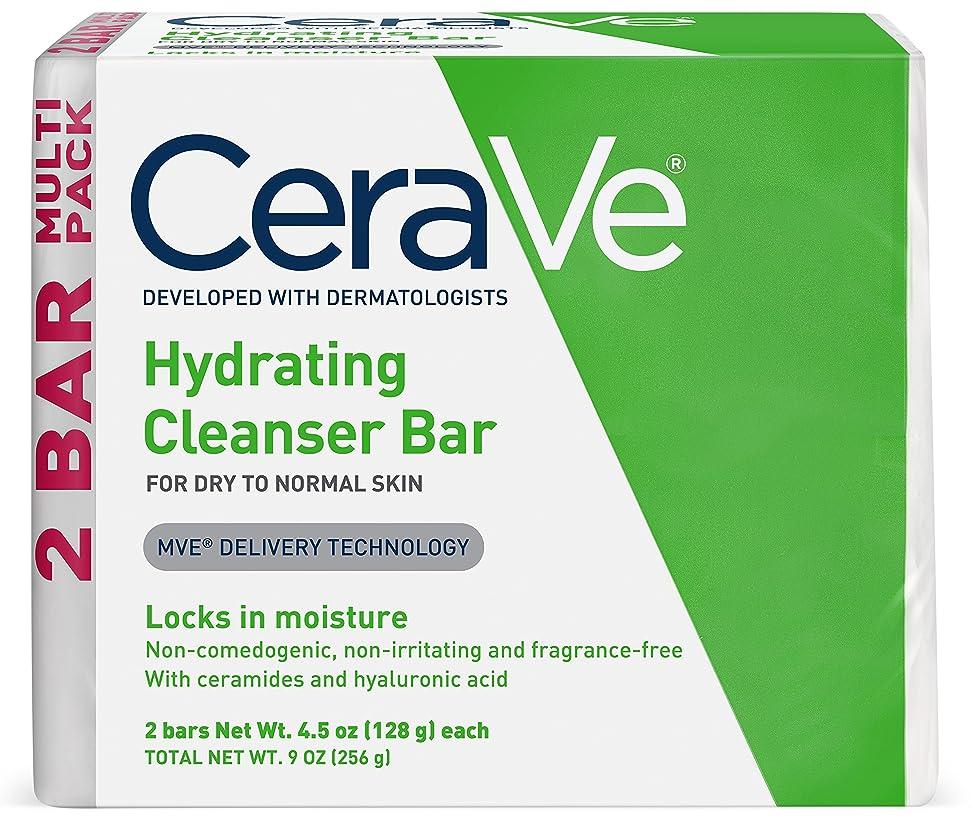 お金ゴム行正確なセラヴィ ハイドレイティングクレンジングバー ノーマル?ドライスキン用 2パック CeraVe Hydrating Cleansing Bar for Normal to Dry Skin - 4.5oz - 2ct