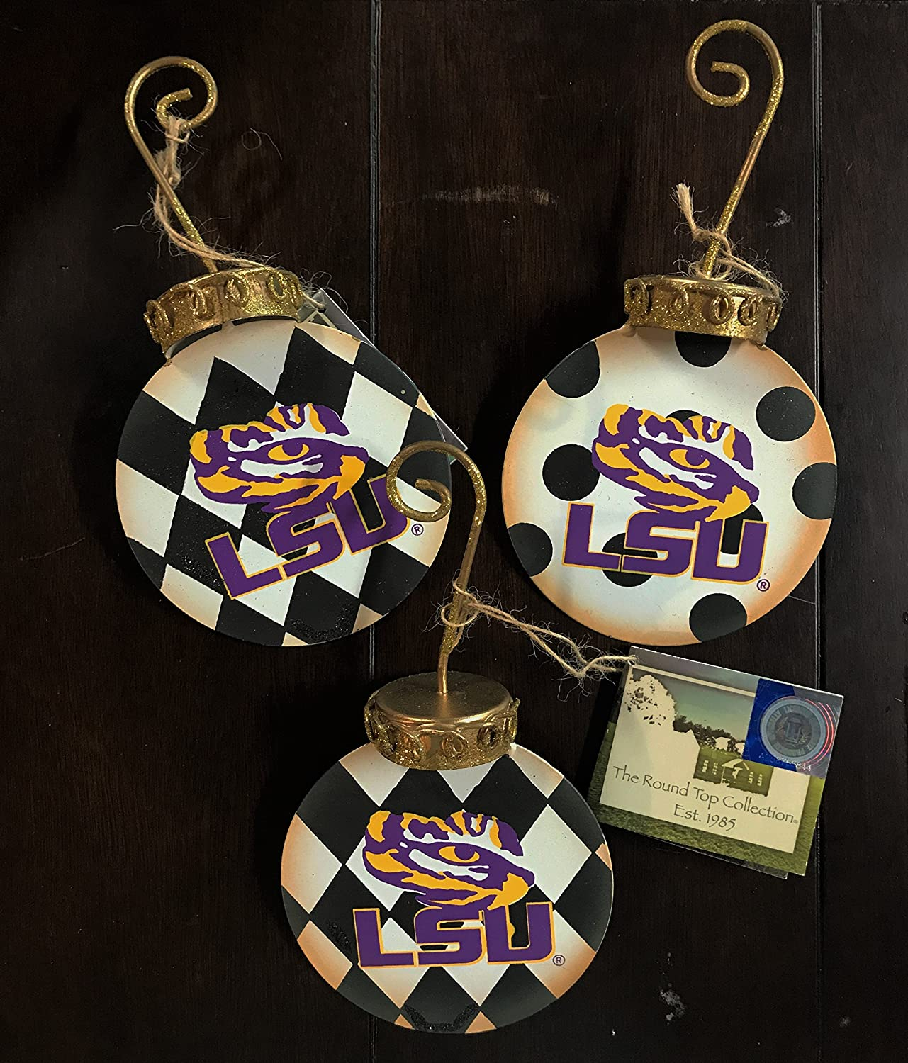 The Round Top Collection LSU Tigers Christmas Ornament Gift Set (Set of 3)