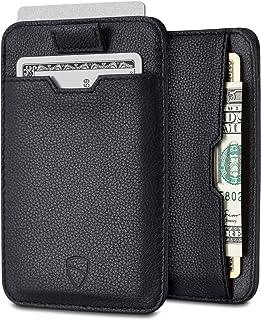 Vaultskin Chelsea ultra-slim leather card-protecting RFID wallet (Black)