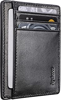 APRICOCO Slim Wallet and Minimalist Card Holder with RFID Blocking Holds 7 Cards and Bank Notes Includes Gift Box