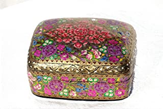 Decorative Handmade Painted Paper Mache Jewelry Trinket Box Case/ Keepsake Boxes/ Gift Boxes 3x4 inches