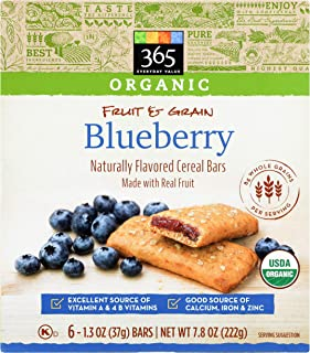 365 Everyday Value, Organic Cereal Bar, Blueberry, 6 ct