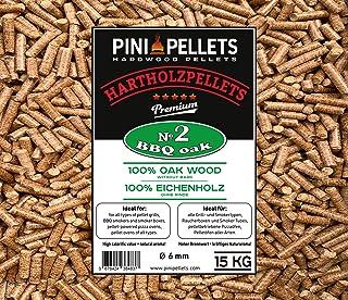 comprar comparacion PINI Grillpellets 15 kg - Pellets de madera 100% roble No2 para asar, ahumar, también para hornos de Pizza operados con pe...