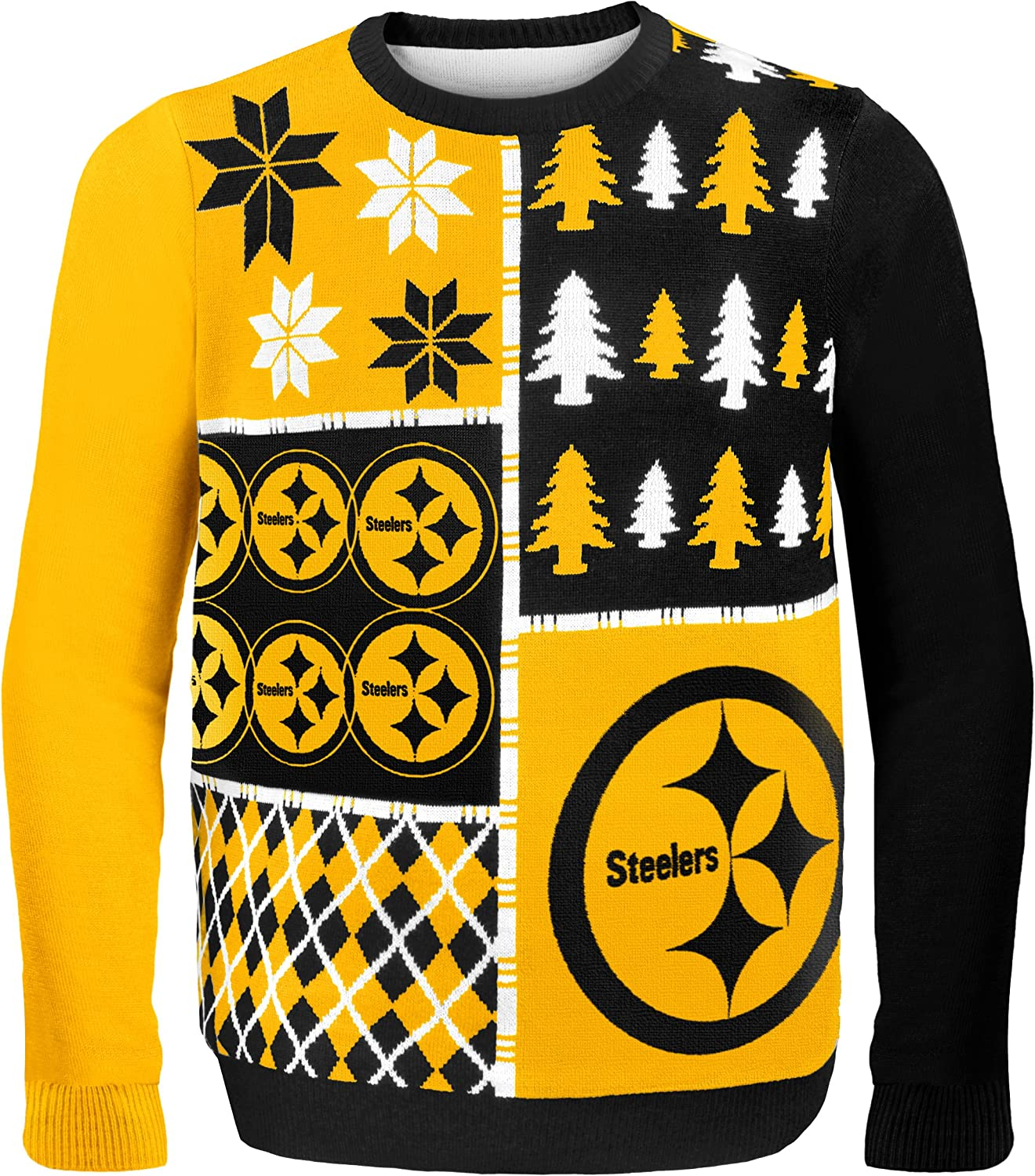 Pittsburgh Steelers Busy Block Ugly Sweater Extra Large