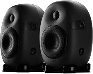 Swans Speakers - X4 - Professional Active Studio Monitors - Designed for Audio Engineers & Music Producers - 55hz to 20KHz Flat Response - Ovoid Shaped Cabinet Minimizes Distortions - XLR Input
