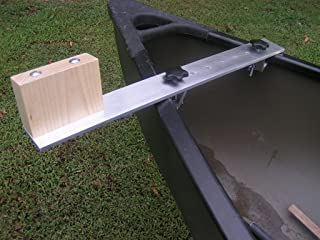 Canoe Trolling Motor Mount Bracket with Aluminum Crossbar and Solid Ash Motor Block
