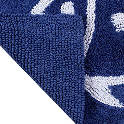 """Southern Tide Skipjack Reversible Cobalt Blue 17"""" W x 24"""" L Bath Rug"""